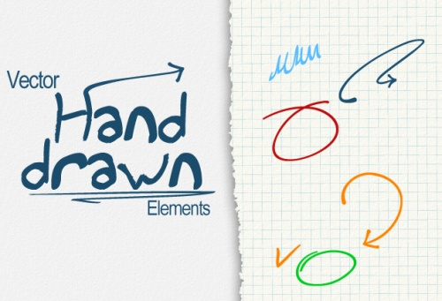 Designtnt - Vector Hand Drawn Elements