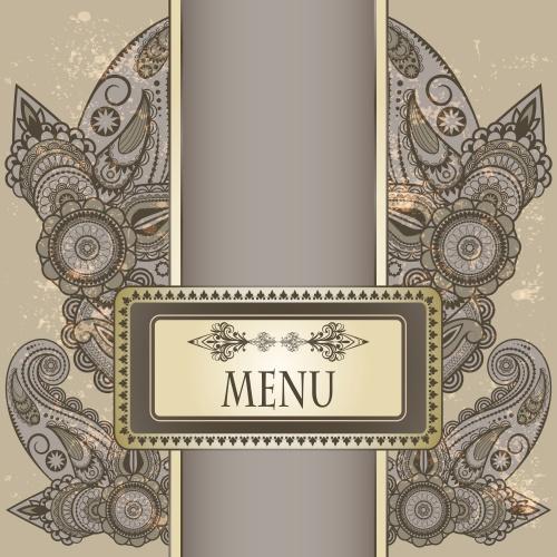 Винтажные блистательные фоны для меню / Vintage shine menu background in vector
