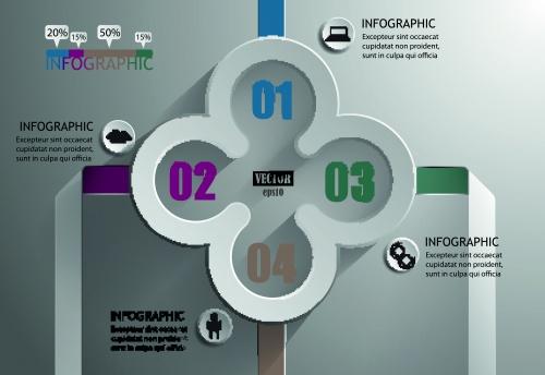 Инфографики креативный дизайн часть 32 | Infographic creative design vector set 32