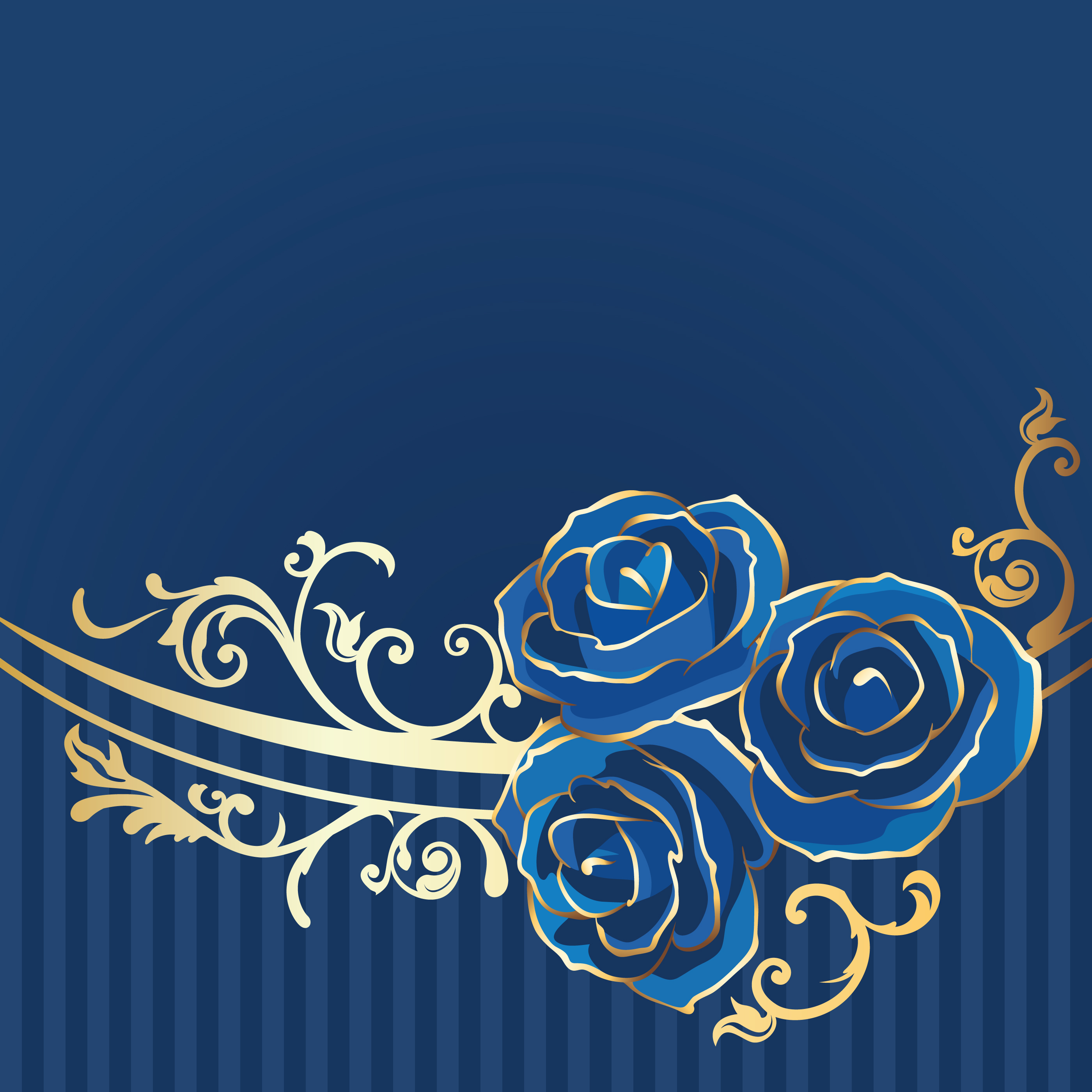 Blue rose flower background