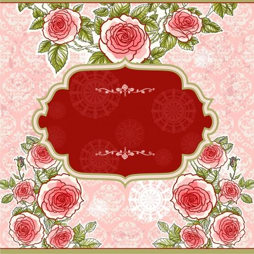 Цветочные фоны в векторе / Flowers background in vector
