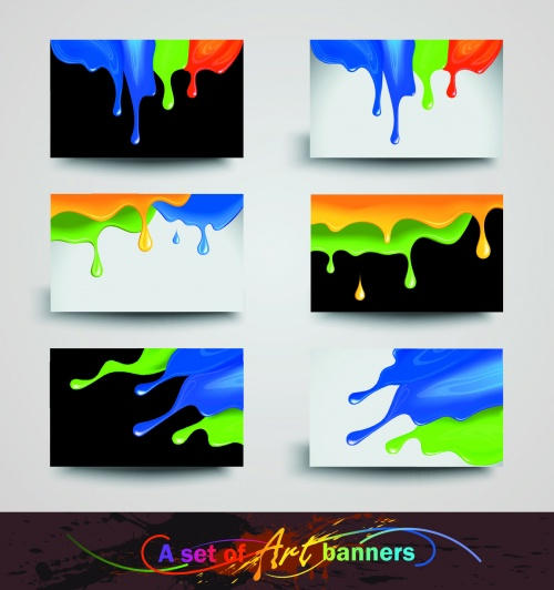 Color Paint Cards Vector