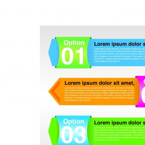 Баннеры с номерами часть 21 | Banners with numbers vector set 21