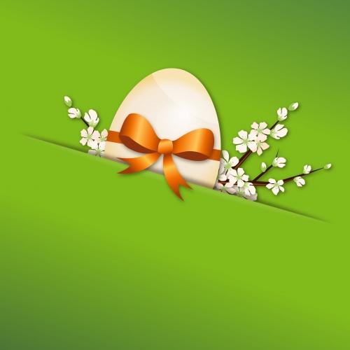 Пасхальные цветные фоны / Easter color background in vector
