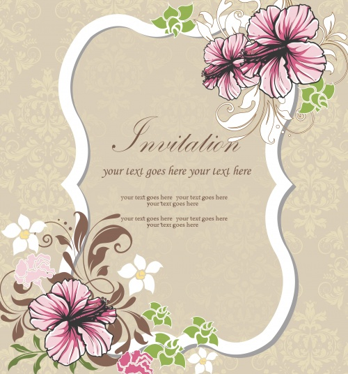 Floral invitations 3
