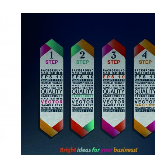 Инфографики рекламный шаблон бизнес идея | Idea business template infographics vector 3