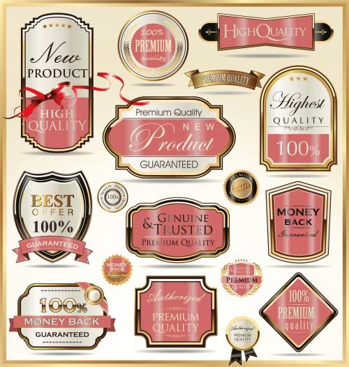 Роскошные золотые лейблы в векторе / Luxury golden labels in vector