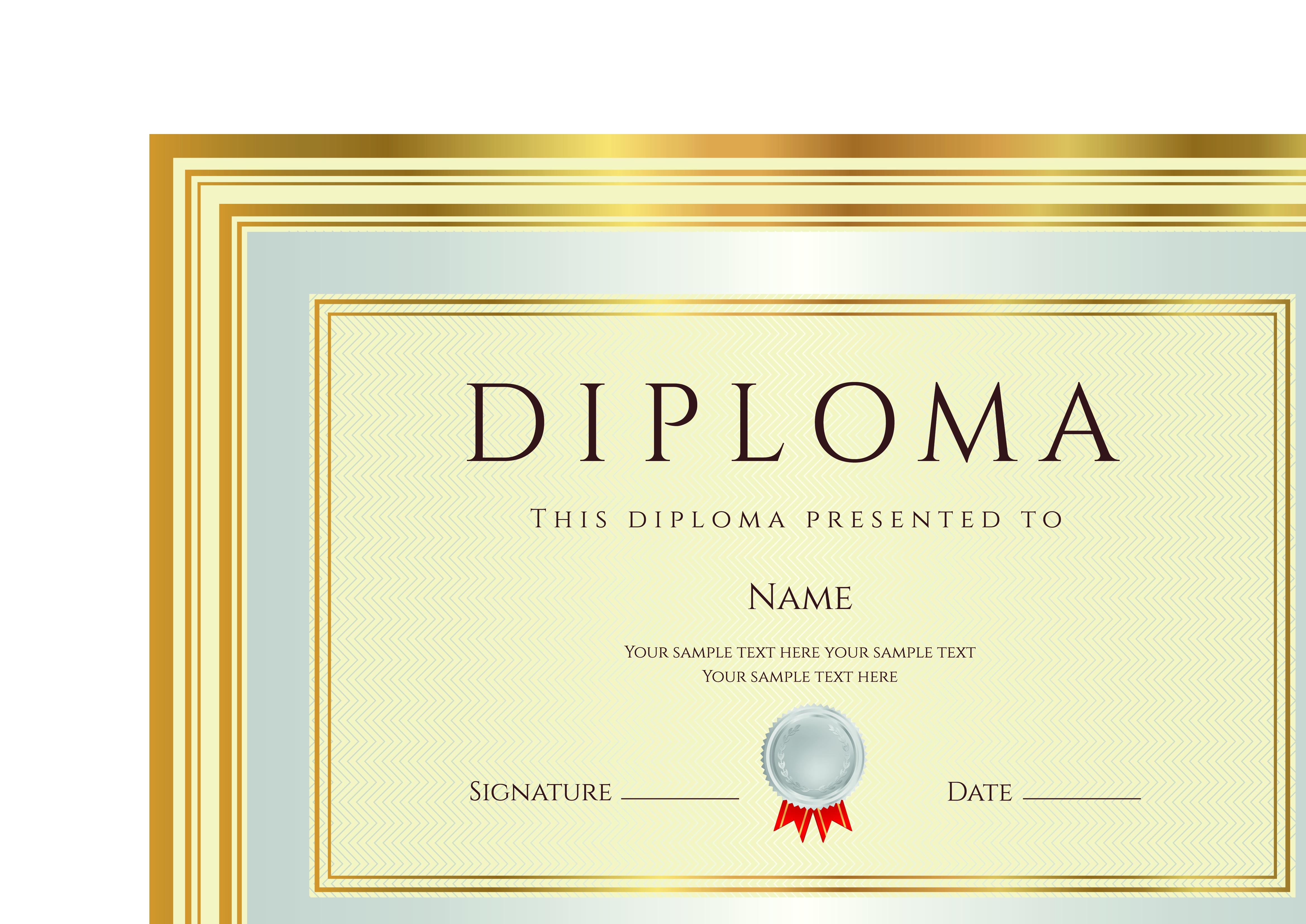 Certificate Diploma Template