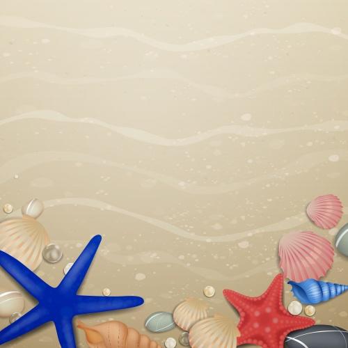 Фон летнего пляжа 3 | Summer beach background 3