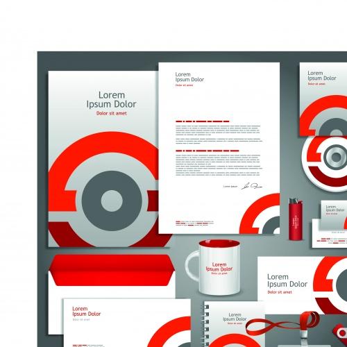 Корпоративный стиль шаблоны часть 11 | Corporate identity template vector set 11