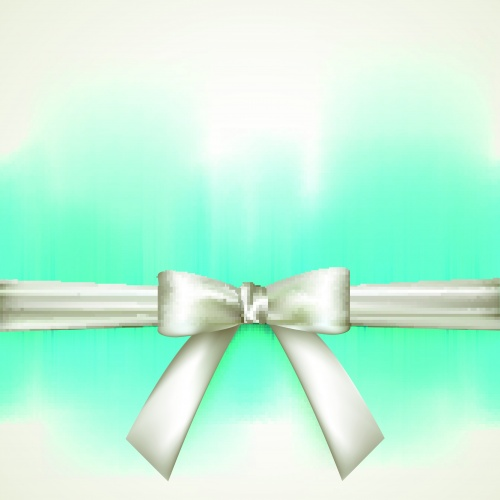 Карточки и баннеры с лентой | Cards and banners with ribbon bow vector