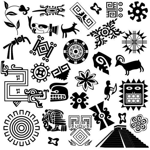 Черные этнические векторные орнаменты / Black etnick ornaments in vector