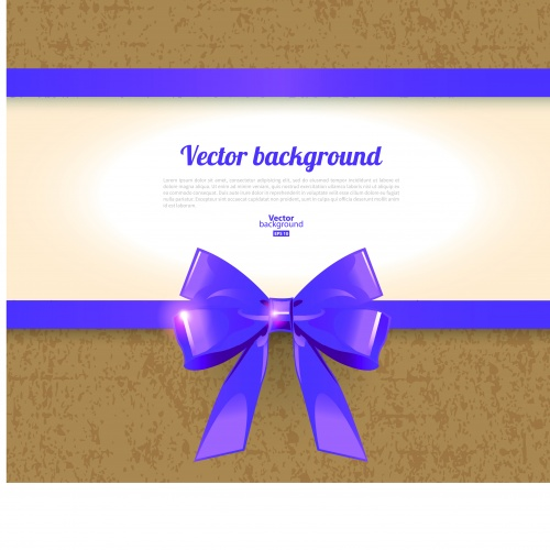 Картон с бантом | Cardboard vector background with bow