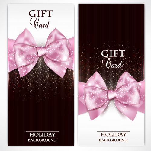 Holiday Gift Cards Vector 3