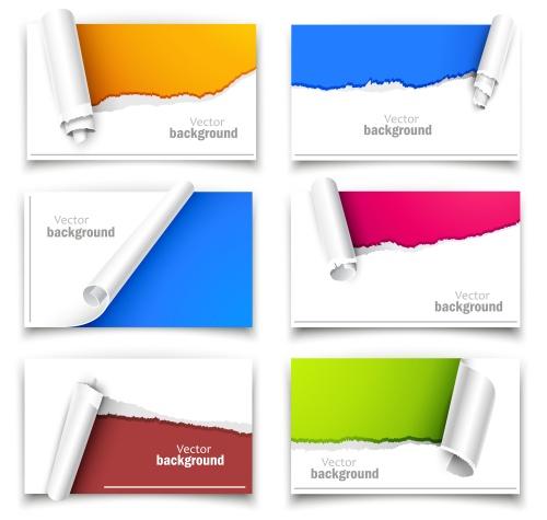 Баннеры с цветными брызгами / Color splash banners in vector