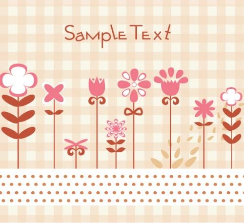 Spring Vector Backgrounds Set 8