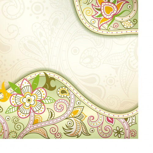 Oriental abstract floral background