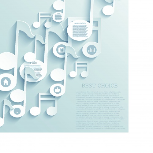 3D белые объекты на векторном фоне | 3D white objects vector background set 3