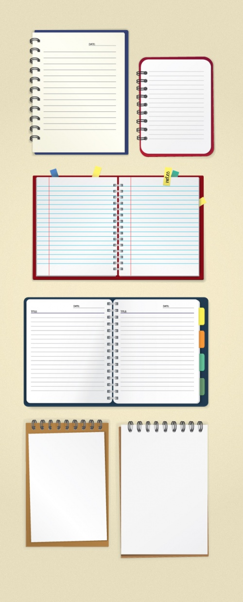 Designtnt - Vector Notebook Mock-ups