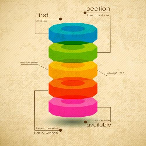 Retro infographics design elements