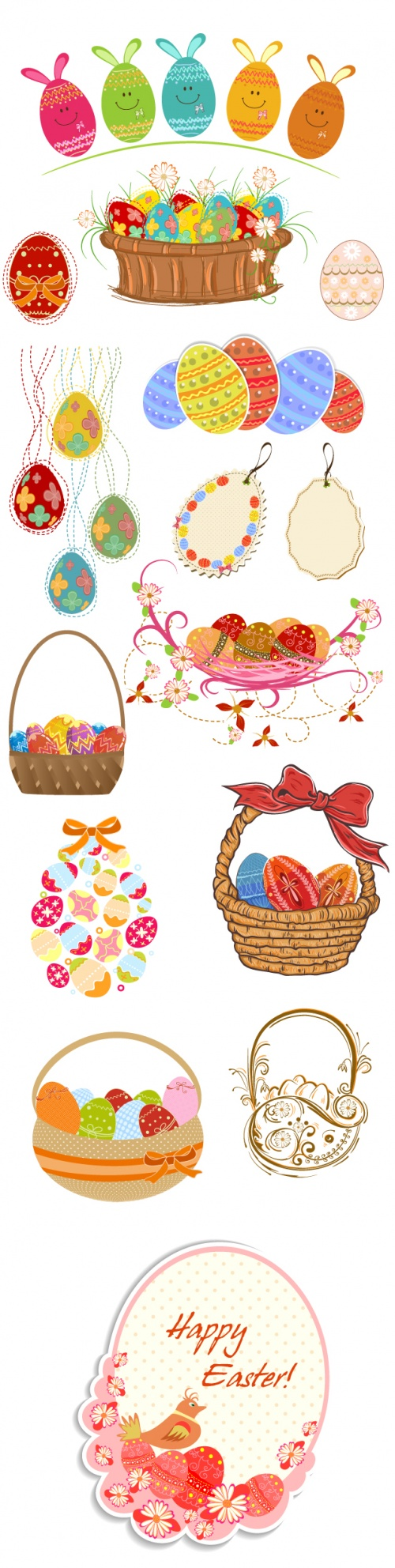 Designtnt - Vector Easter Elements Set 4