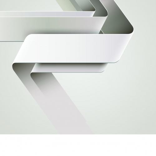 Белая лента на векторном фоне | White ribbon vector background