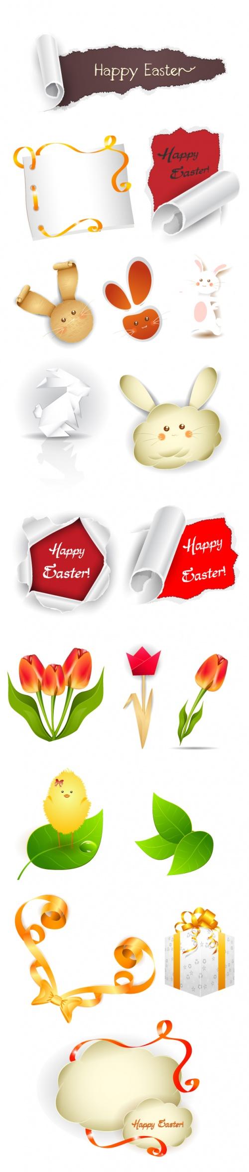 Designtnt - Vector Easter Elements Set 2