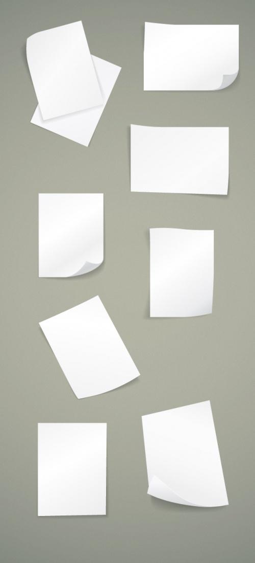 Designtnt - Blank Paper Sheets Set 1