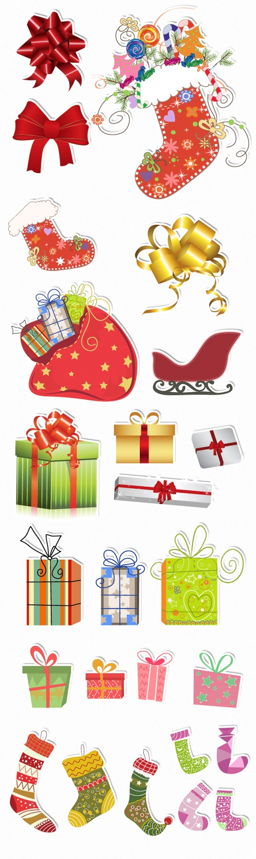 Designtnt - Christmas Vector Ornaments Set 1