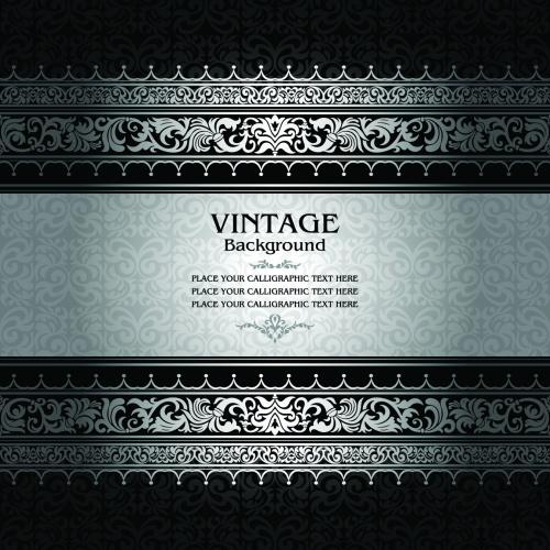 Silver vintage back