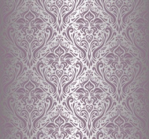 Сиреневые фоны для свадебных пригласительных / Vintage lilac ornament background in vector