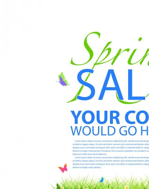 Рекламный постер скидка и путешествие | Advertising poster travel and discounts sale vector