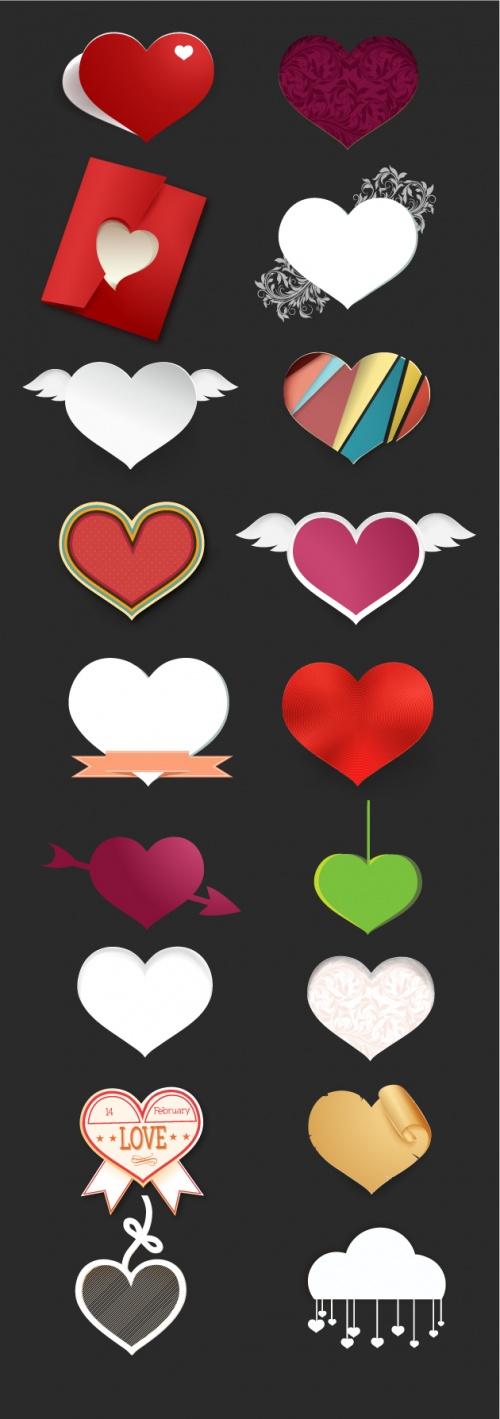 Designtnt - Vector Hearts
