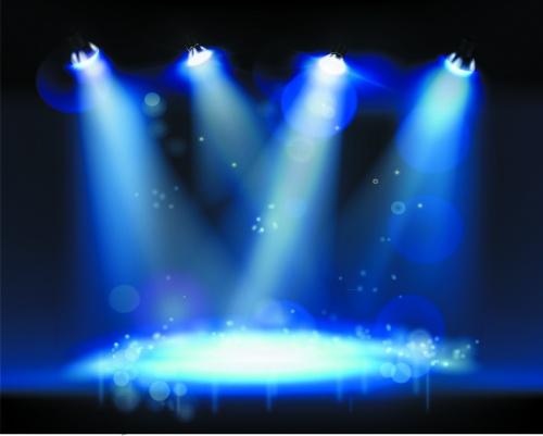 Stage & Spotlights Vector