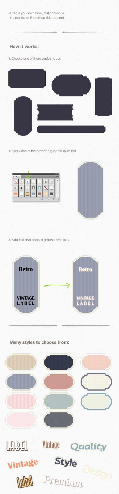 Designtnt - Retro Vintage Labels PS Generator