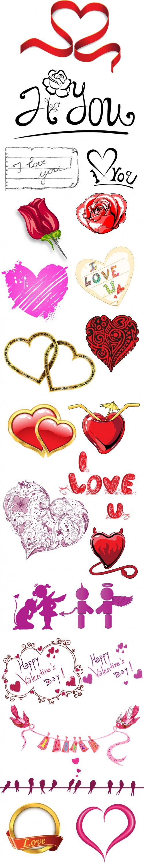 Designtnt - Valentines Vector Elements Set 1