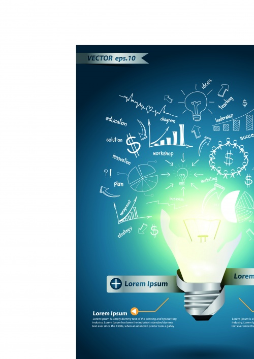 Idea business template infographics vector