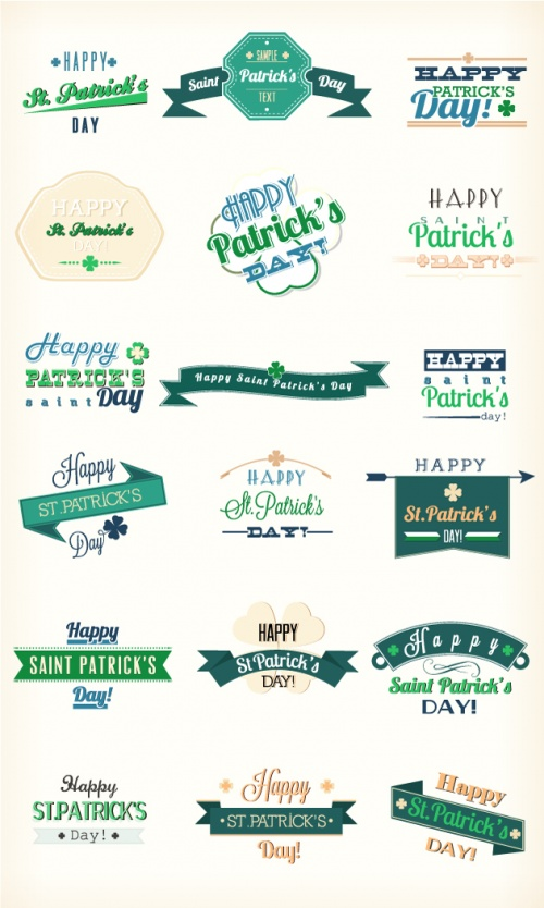 Designtnt - St Patricks Day Vector Elements