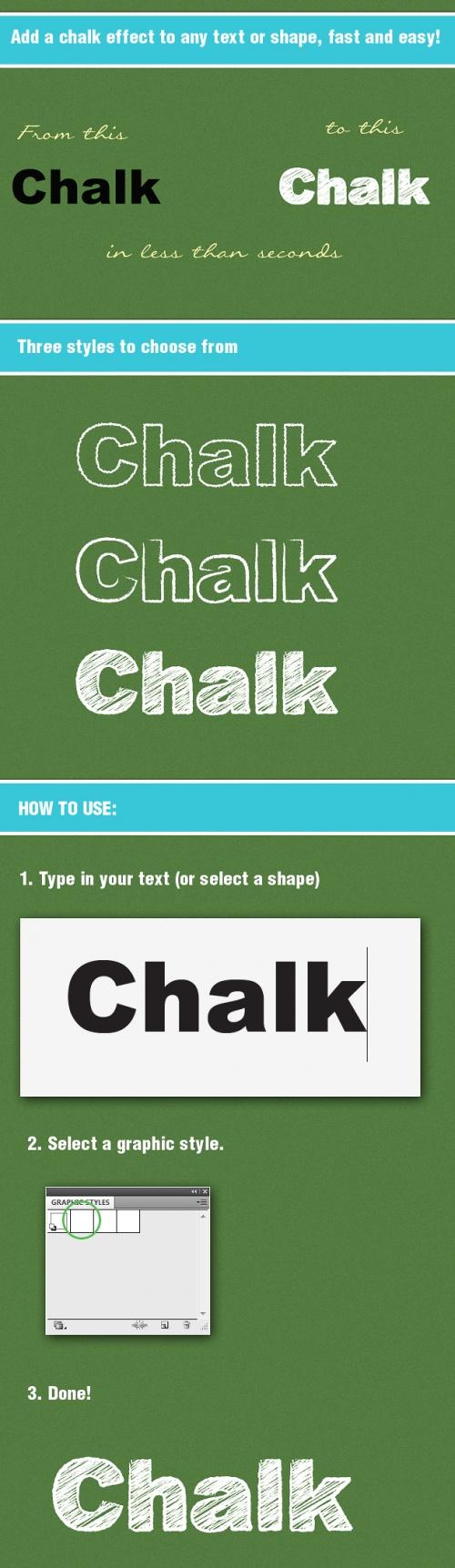Designtnt - Chalk Board AI Graphic Style
