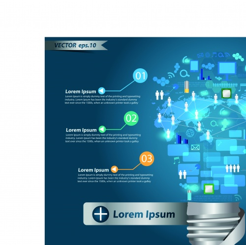 Идея бизнес шаблон часть 2 | Idea business template infographics vector 2