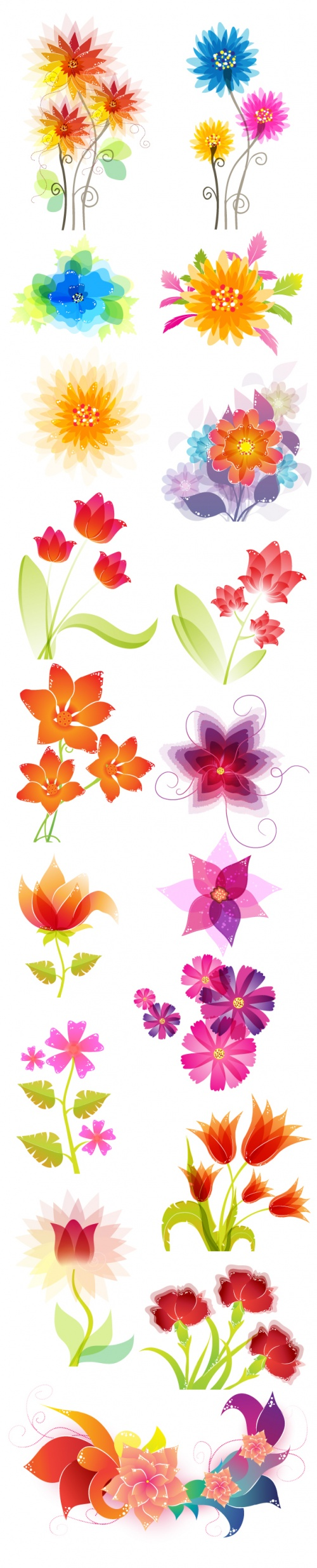 Designtnt - Vector Floral Ornaments Set 4