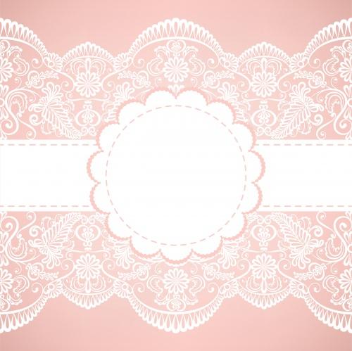 Винтажные кружевные фоны #7 - Векторный клипарт