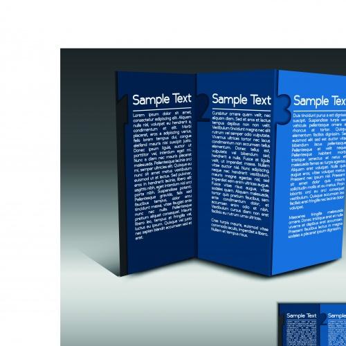 Брошюра из трёх страниц часть 30 | Tri fold business brochure vector set 30