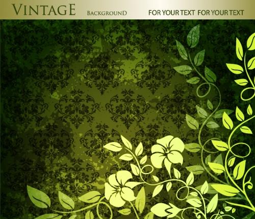 Floral vintage invitations