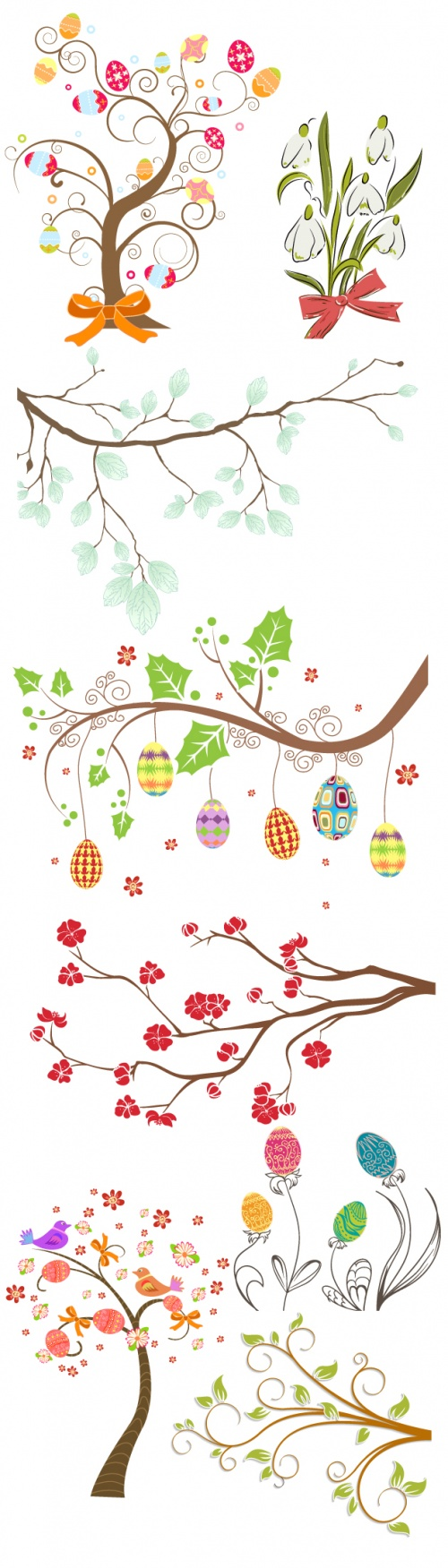 Designtnt - Vector Easter Elements Set 3