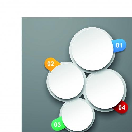 Круглые баннеры | Round banners vector