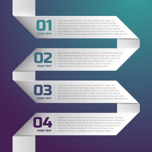 Элементы инфографики, часть 37 / Infographics design template with numeration, part 37 - vector stock