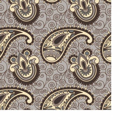 Seamless flower paisley background