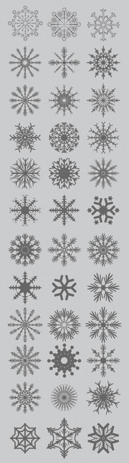 Designtnt - Vector Snowflakes Set 1