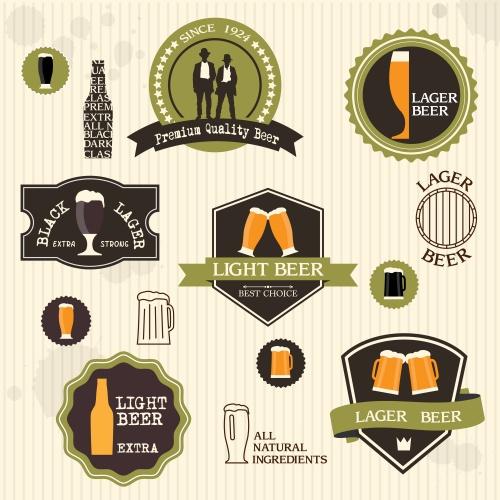 Пивные лэйлблы / Beer labels in vector